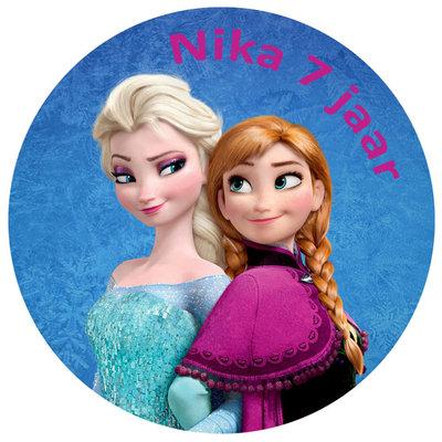 Frozen Anna en Elsa taart disc