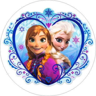 Frozen hart taart disc