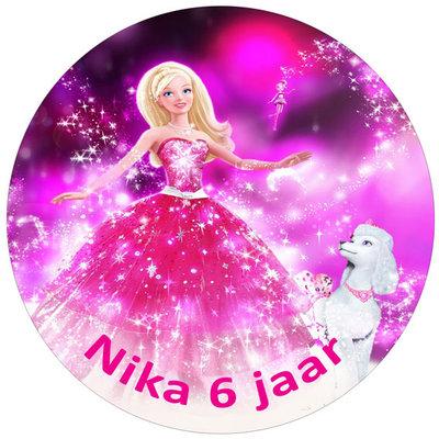 Barbie taart disc