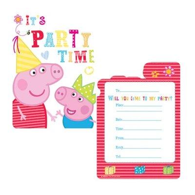 Peppa Pig uitnodigingen