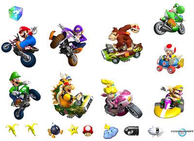 Mario kart wii muurstickers