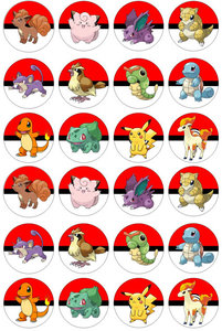 Pokemon Go cake toppers