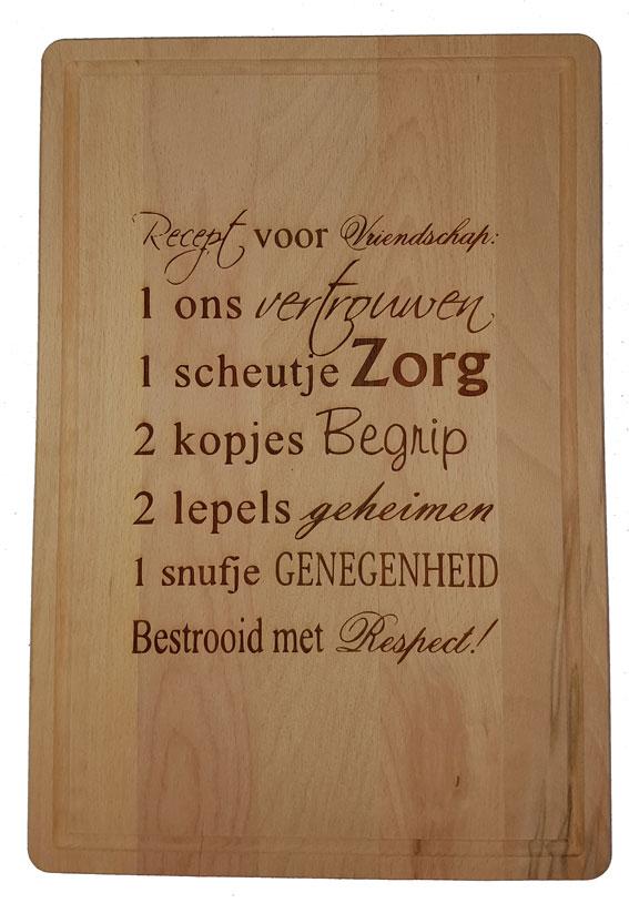 Verrassend Snijplank gegraveerd - KadoKamer.nl YE-07