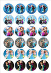 Frozen cake toppers
