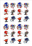 Sonic cake toppers