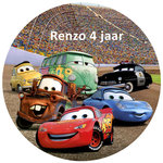 Cars taart disc
