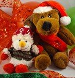 Inhoud cadeauballon kerstpluche hond