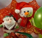 Inhoud cadeauballon kerst sneeuwpop