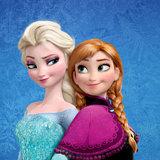 Frozen Anna Elsa taart plaat vierkant