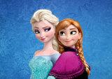 Frozen Anna Elsa taart plaat A4