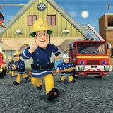 Brandweerman Sam taart plaat vierkant