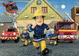 Brandweerman Sam taart plaat A4