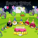 Angry Birds taartplaat vierkant