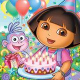 Dora taart plaat vierkant
