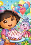 Dora taart plaat A4