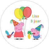 Peppa Pig taart disc