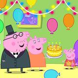 Peppa Pig taart plaat vierkant