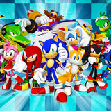 Sonic taart plaat vierkant