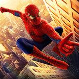 Spiderman taart plaat vierkant