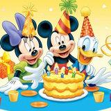 Disney taart plaat vierkant