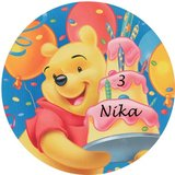 Winnie the Pooh taart disc