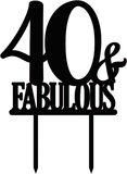 Taarttopper 40 Fabulous