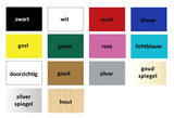 Kleurenkaart acryl/hout