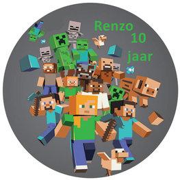 Minecraft taart disc