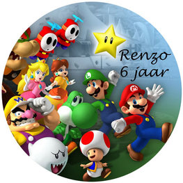 Mario Bros taart disc