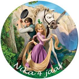 Rapunzel taart disc