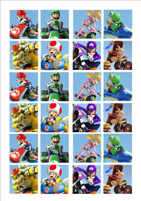 Mario kart cake toppers