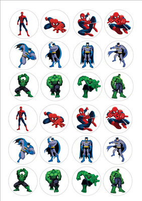 Superhelden cake toppers