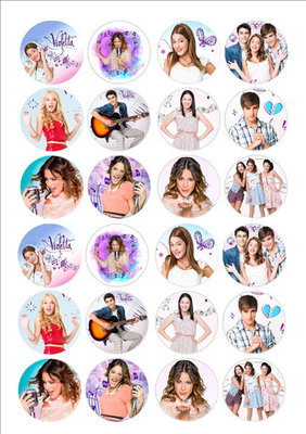 Violetta cake toppers