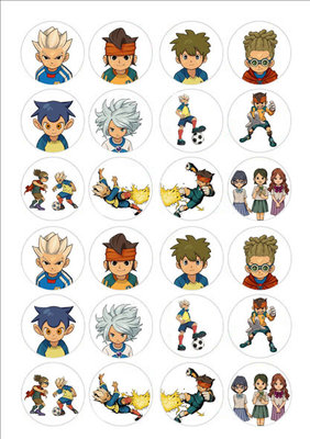 Inazuma Eleven cake toppers