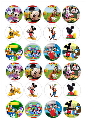 Mickey´s clubhuis cake toppers