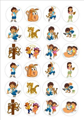 Diego cake toppers