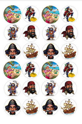 Piraten cake toppers