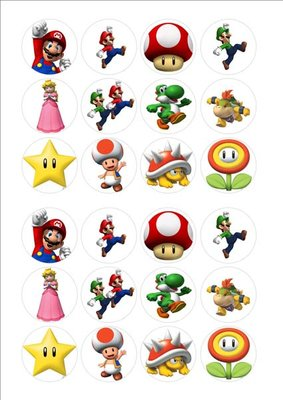 Mario Bros cake toppers
