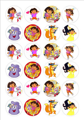 Dora cake toppers