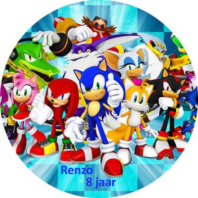 Sonic taart disc