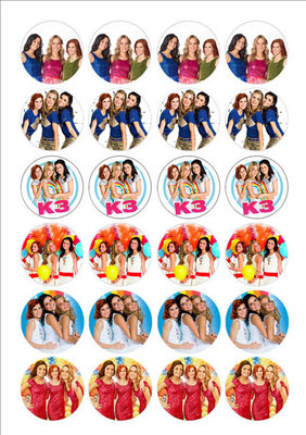 K3 cake toppers
