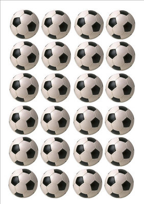 Voetbal cake toppers
