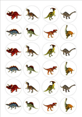 Dinosauriers cake toppers