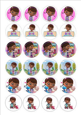 Doc McStuffins cake toppers