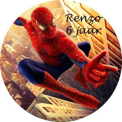 Spiderman taart disc