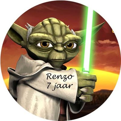 Yoda taart disc