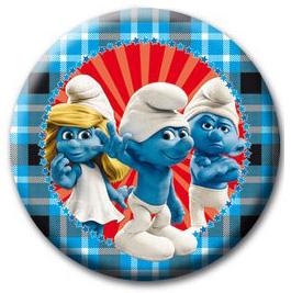 Smurfen borden blauw