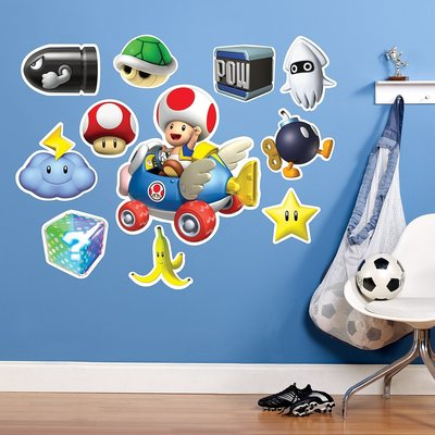 Mario kart Toad muurstickers XL