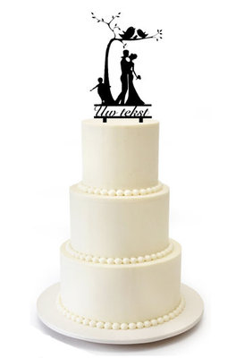 Familie bruiloft taarttopper