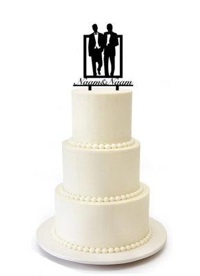 Bruidspaar 2 mannen taarttopper